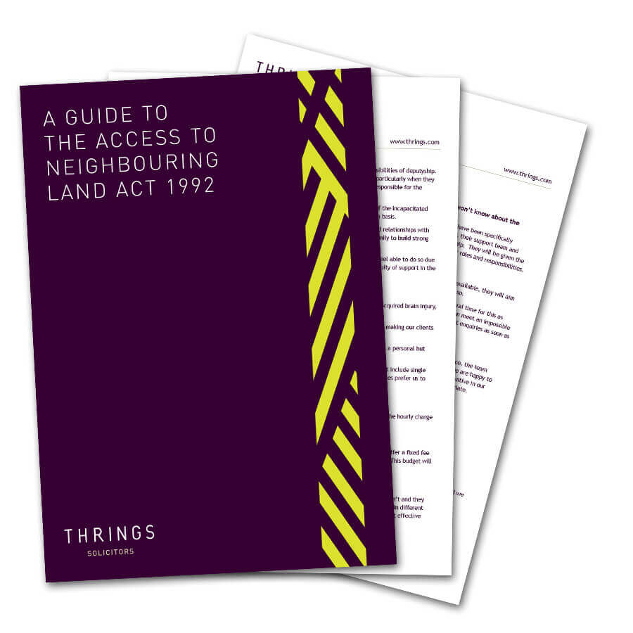 A guide to the Access to Neighbouring Land Act 1992 image