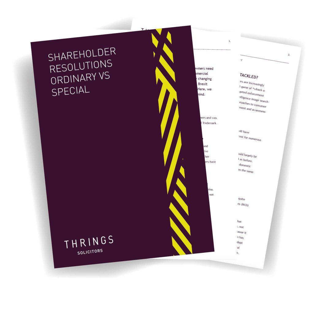 Shareholder Resolutions - Ordinary Vs Special image