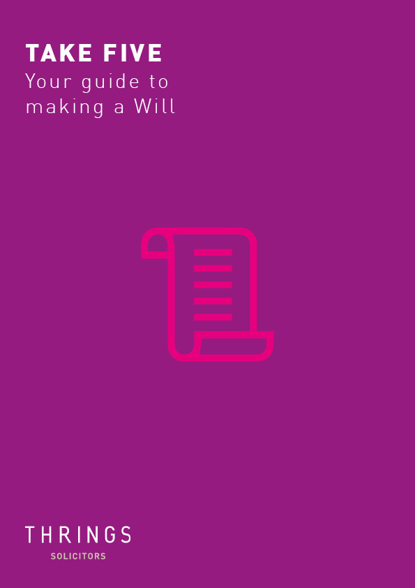 TakeFive - Making a will cover