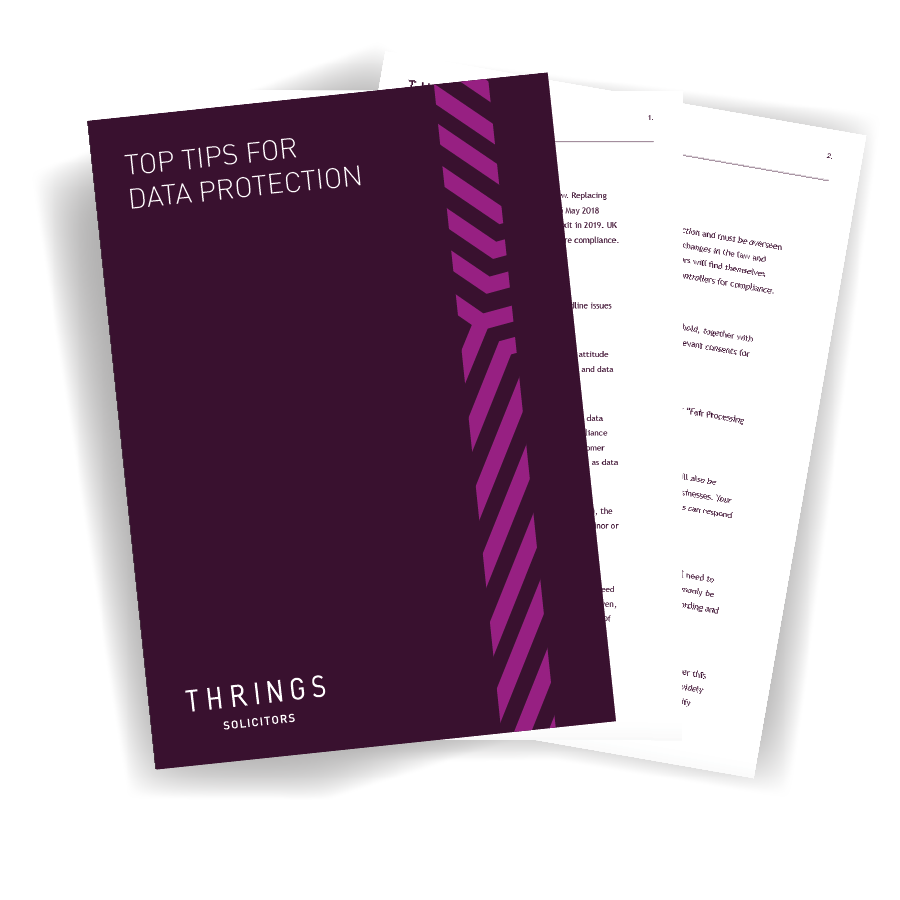 Top Tips for Data Protection image