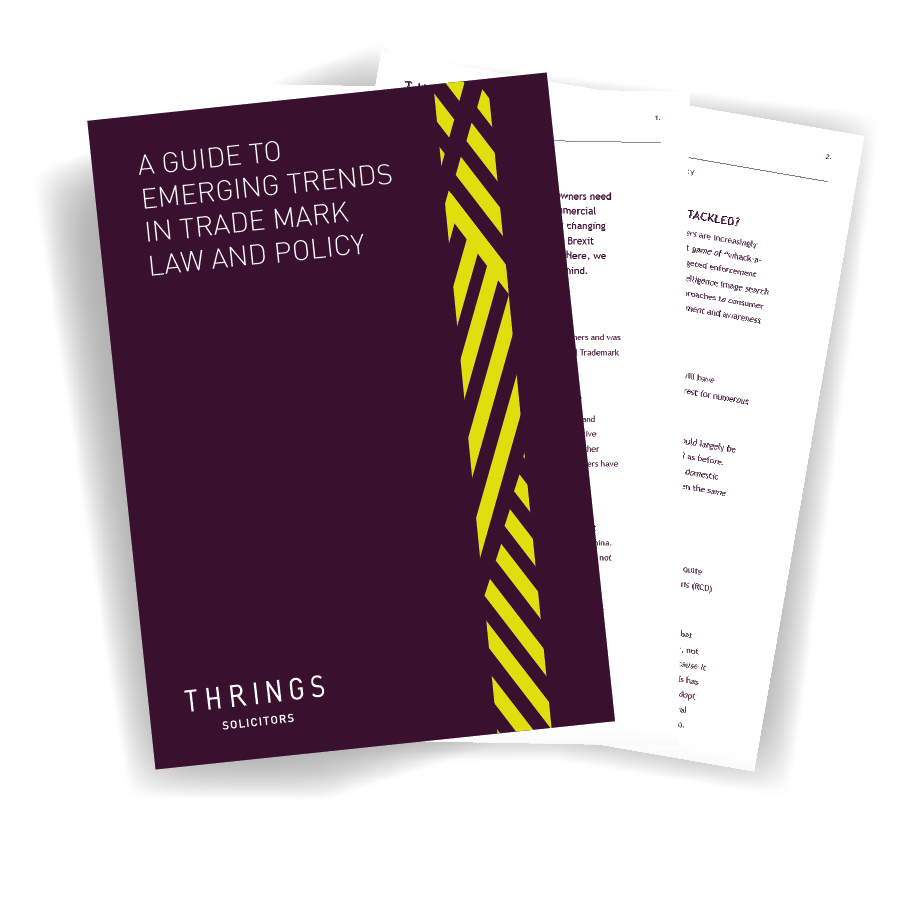 A guide to emerging trends in trade mark law and policy image