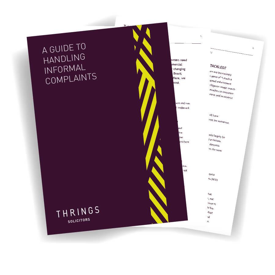 A guide to handling informal complaints image