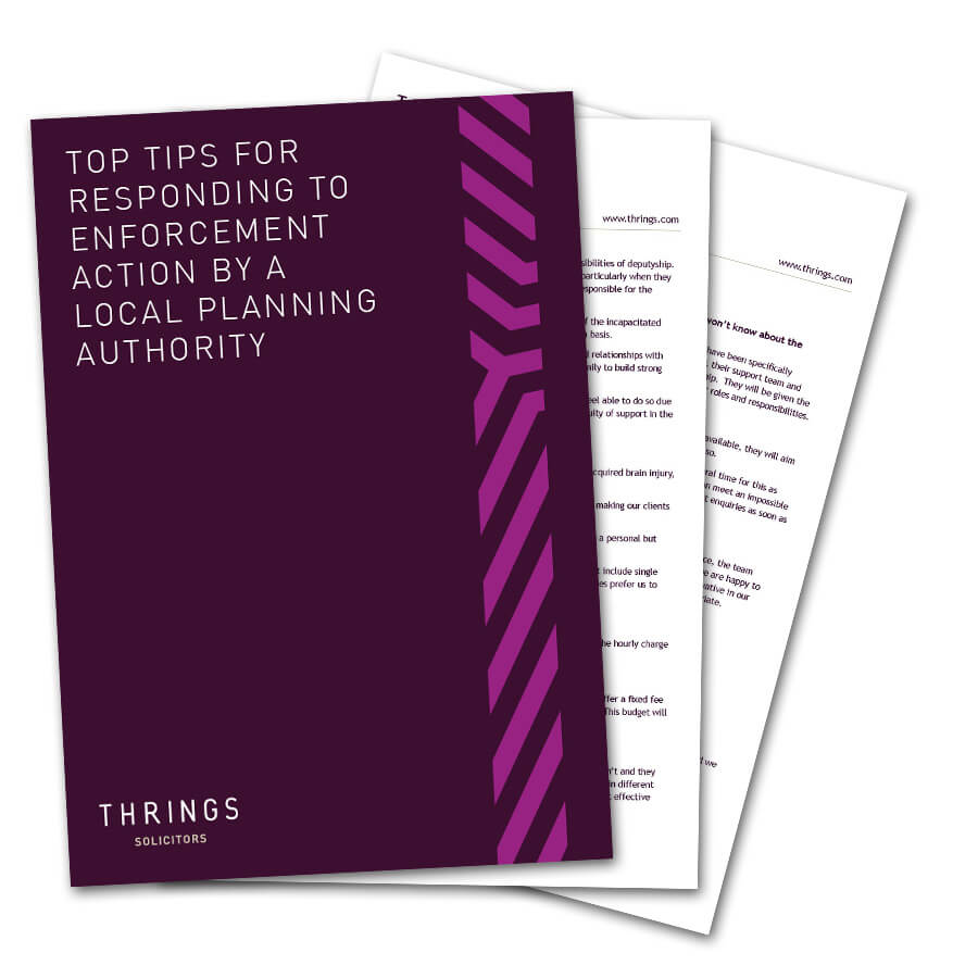 Top Tips For Responding To Enforcement Action By A Local Planning Authority image