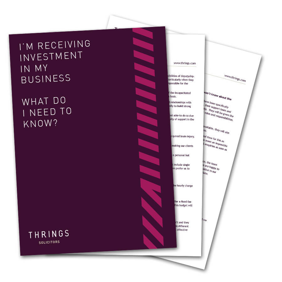 I'm Receiving Investment In My Business – What Do I Need To Know?