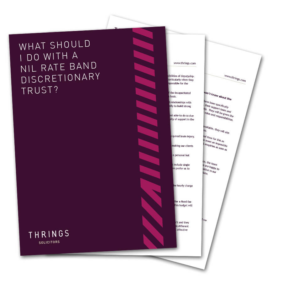What Should I Do With A Nil Rate Band Discretionary Trust?